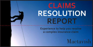 Claims resolution report